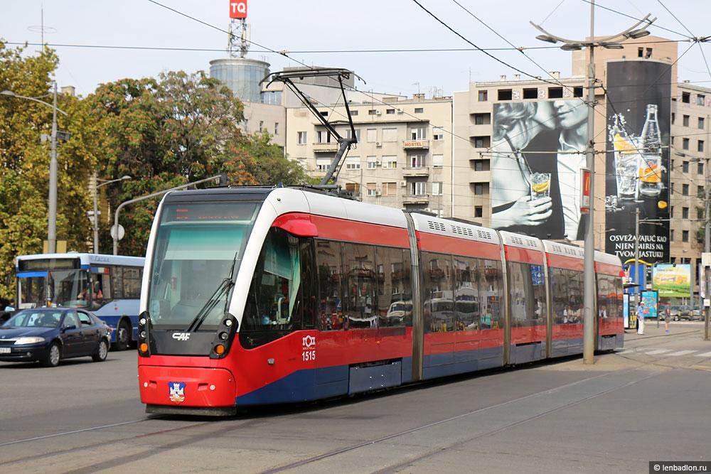 Фото трамвая в Белграде