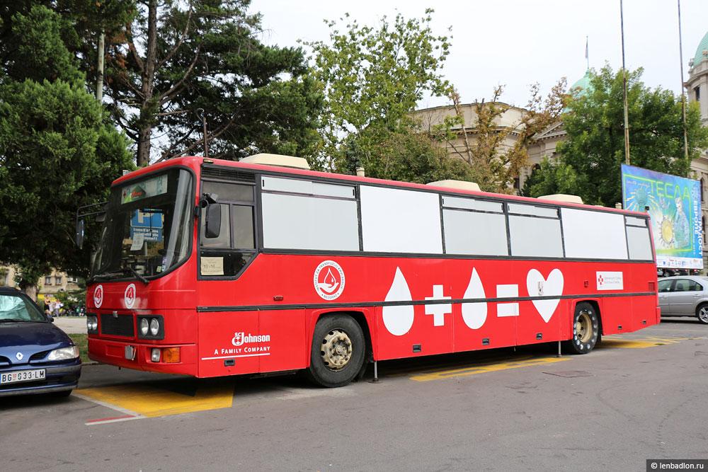 Фото автобуса в Белграде