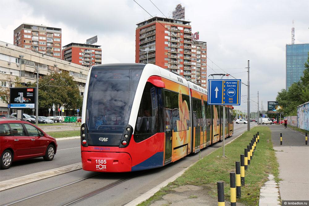 Трамвай в Новом Белграде