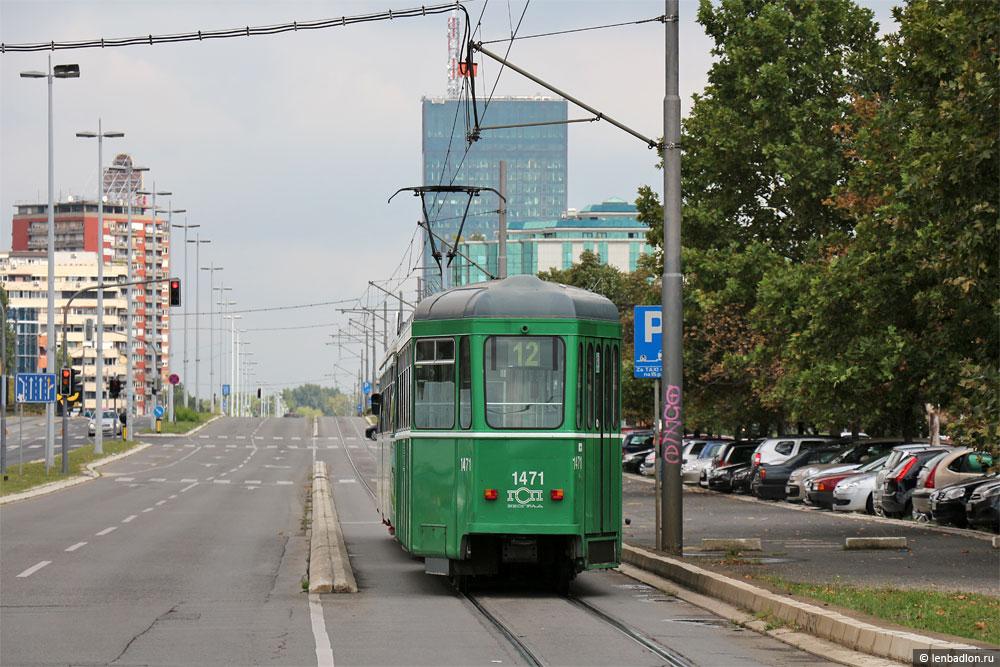 Фото трамвая в Новом Белграде
