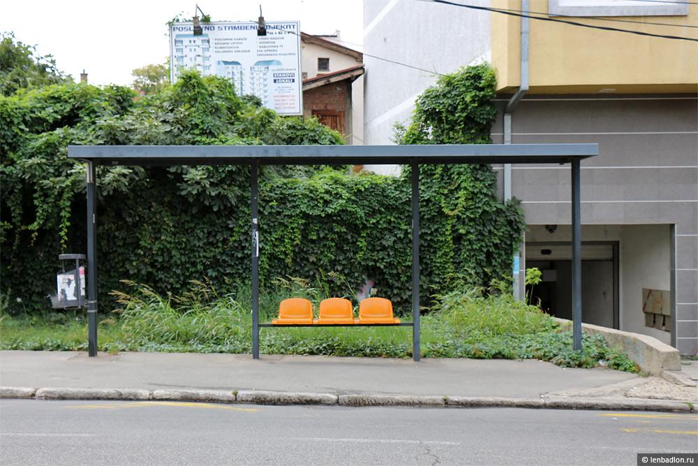 Автобусная остановка в Белграде