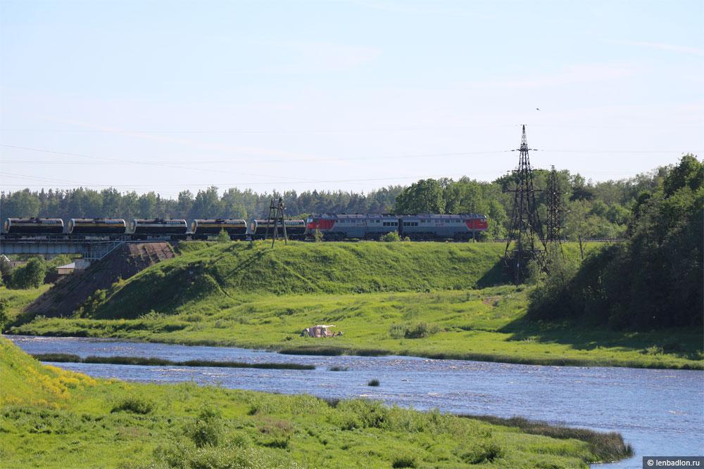 Фото поезда в Кингисеппе