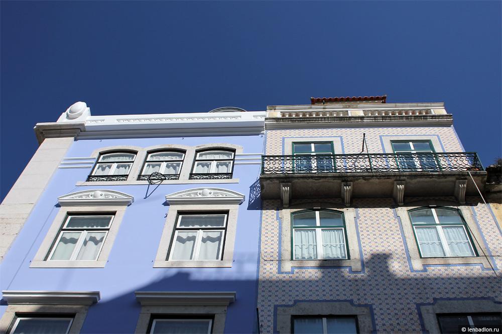 Фасады зданий в Лиссабоне, Португалия