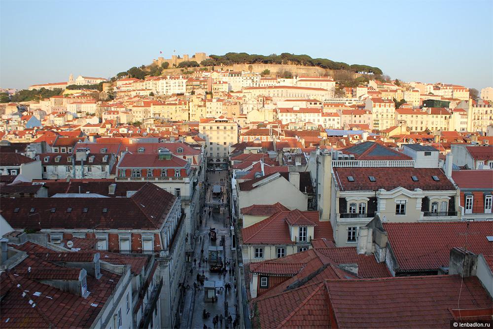 Фото Лиссабона с видом на цитадель замка Святого Георгия