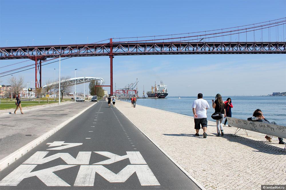 Набережная реки Тежу в Лиссабоне