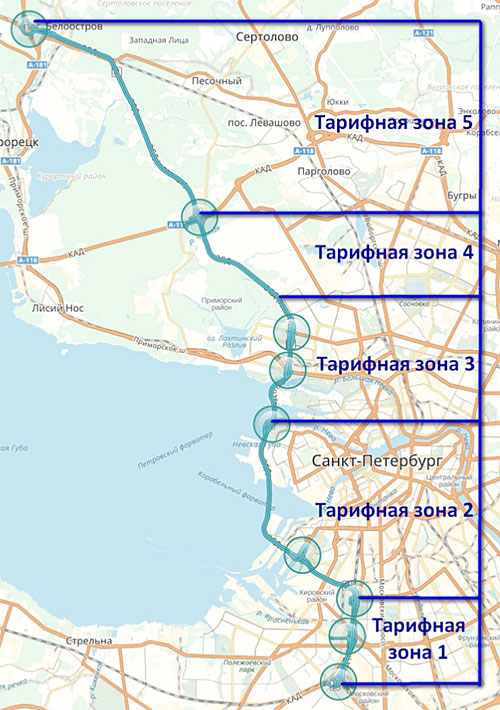 Схема зон ЗСД с 4 февраля 2017