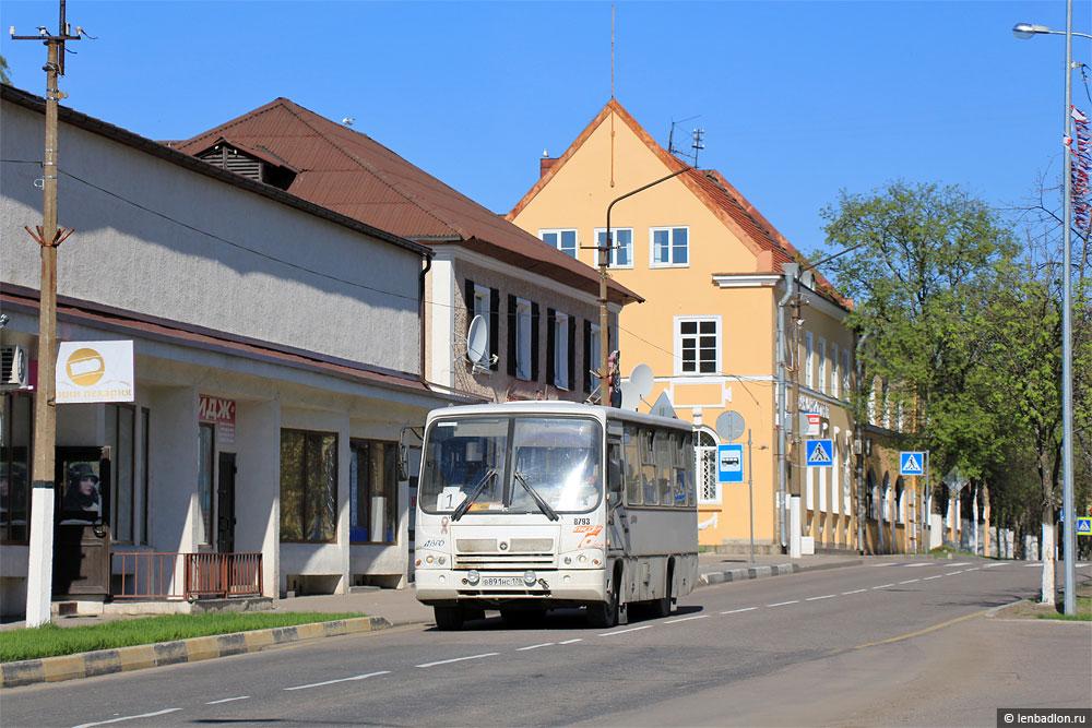 Фото маршрутного микроавтобуса в Приозерске