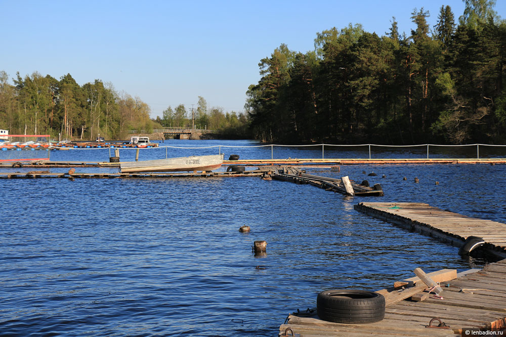Лодочная станция на озере Вуокса