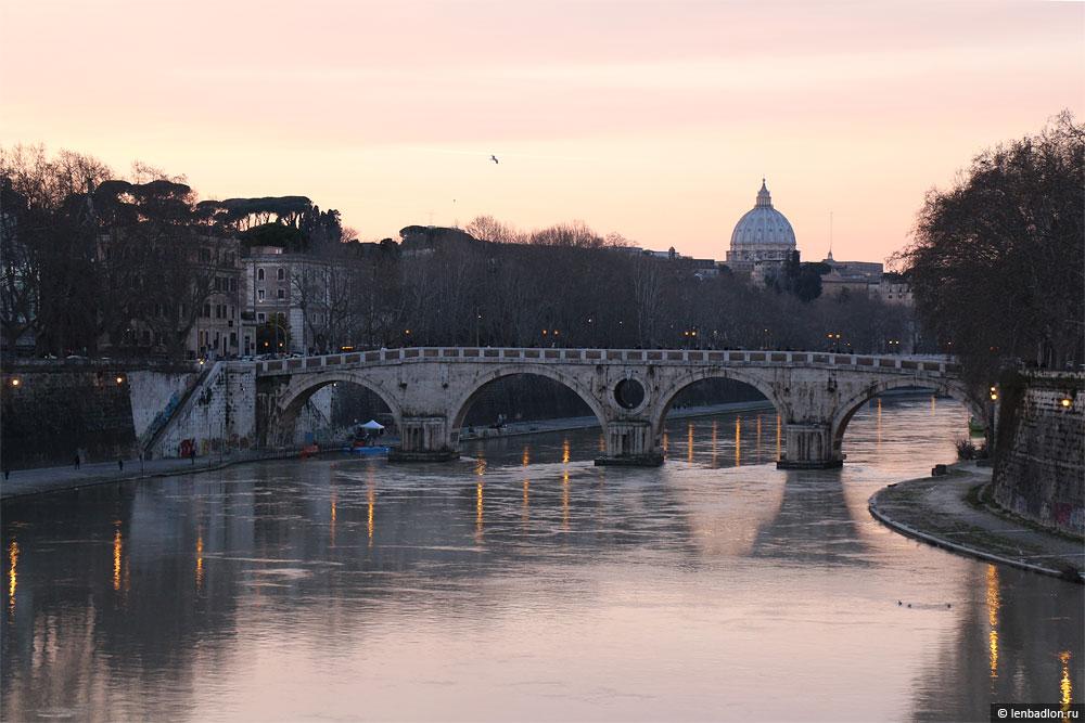 Фото реки Тибре в Риме