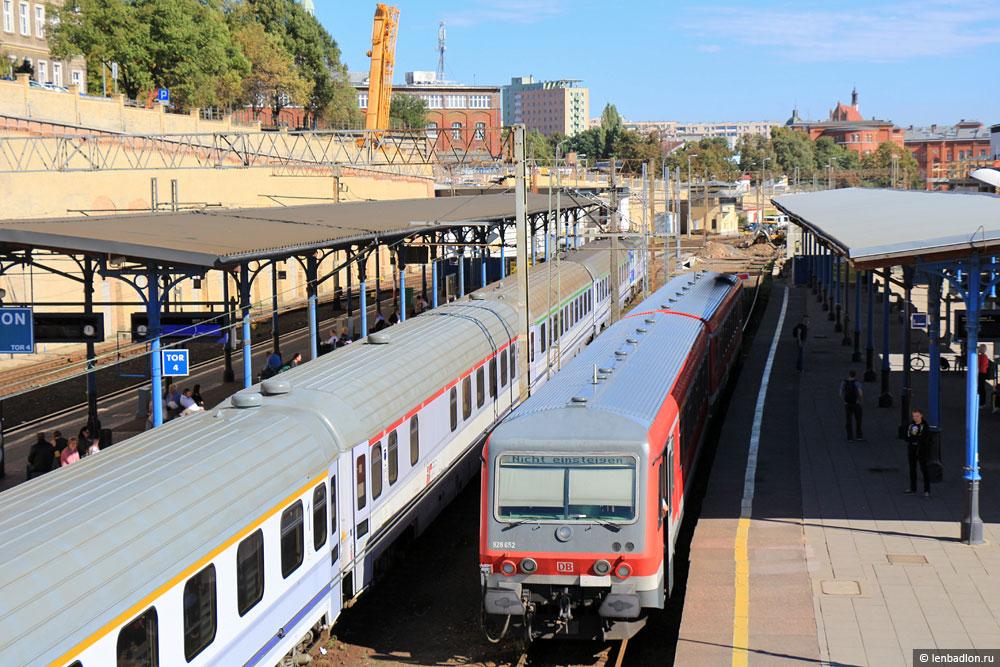 Фото поезда в Щецине