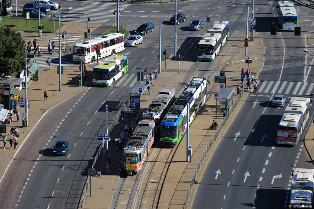 Фото трамваев в Щецине