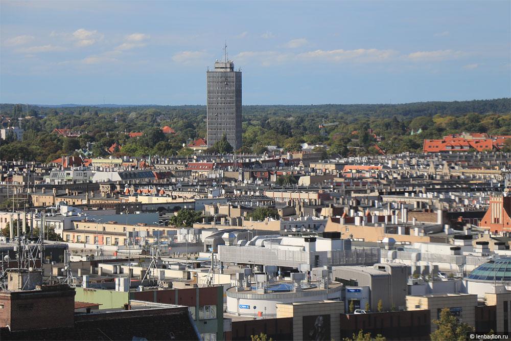Вид на Щецин, Польша