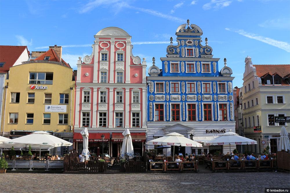 Старый город в Щецине фото