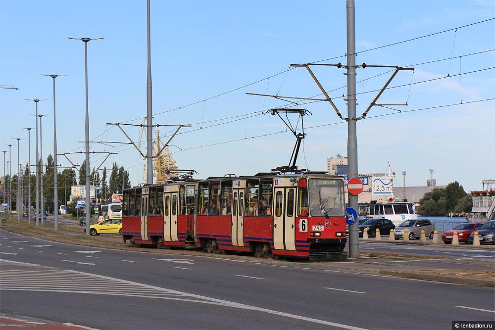 Фото трамвая Konstal 105Ng в Щецине