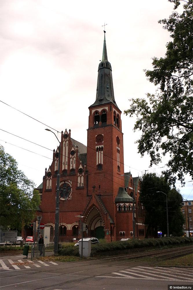Фото собора в Щецине