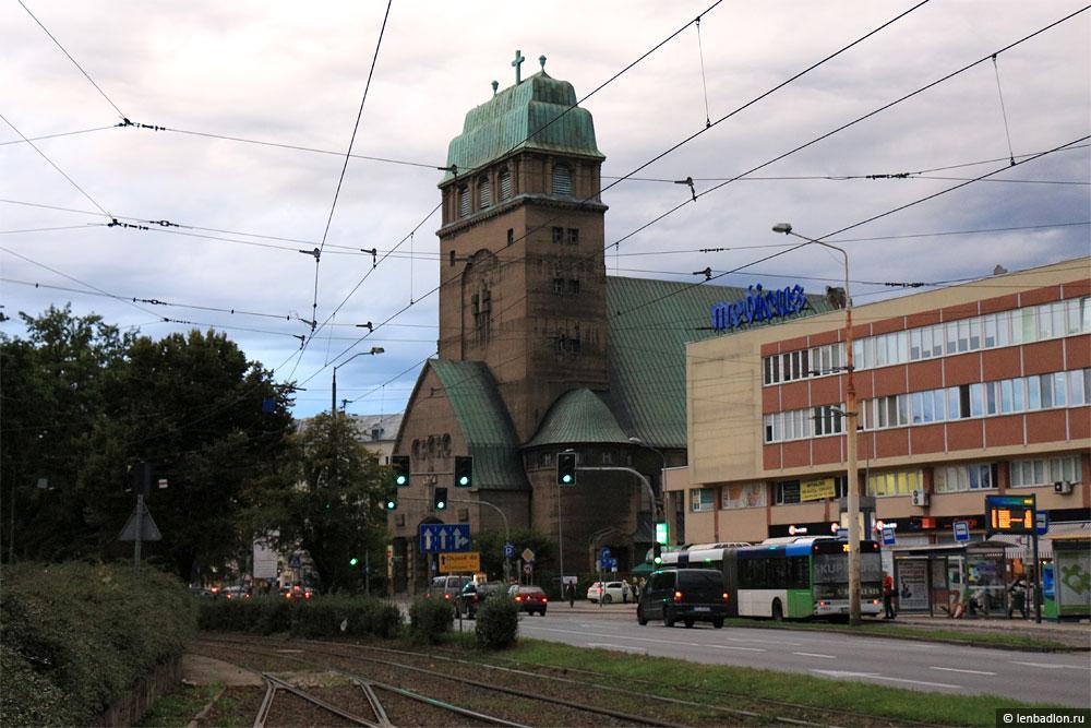 Фото кирхи в Щецине, Польша