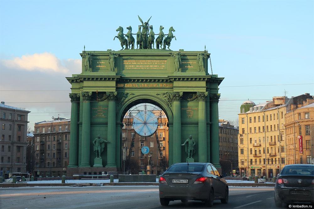 Нарвские триумфальные ворота фото