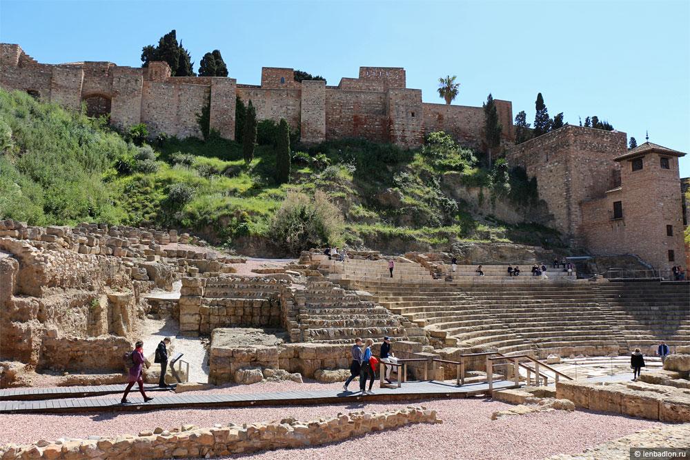 Крепость Алькасаба в Малаге фото