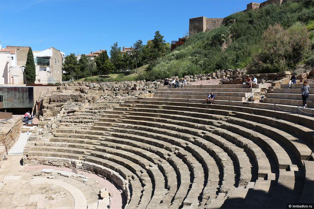 Римский театр в Малаге фото