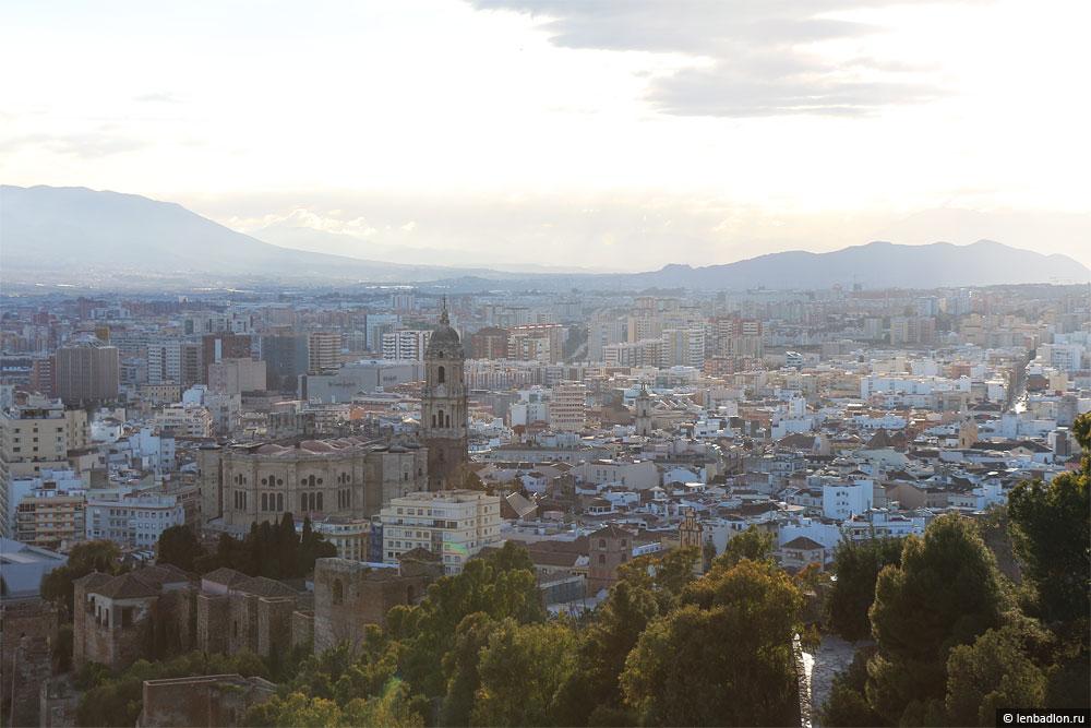 Панорама Малаги, Испания