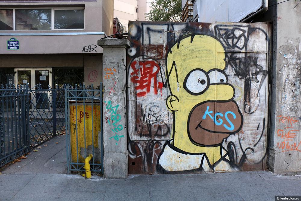 Граффити в Бухаресте фото