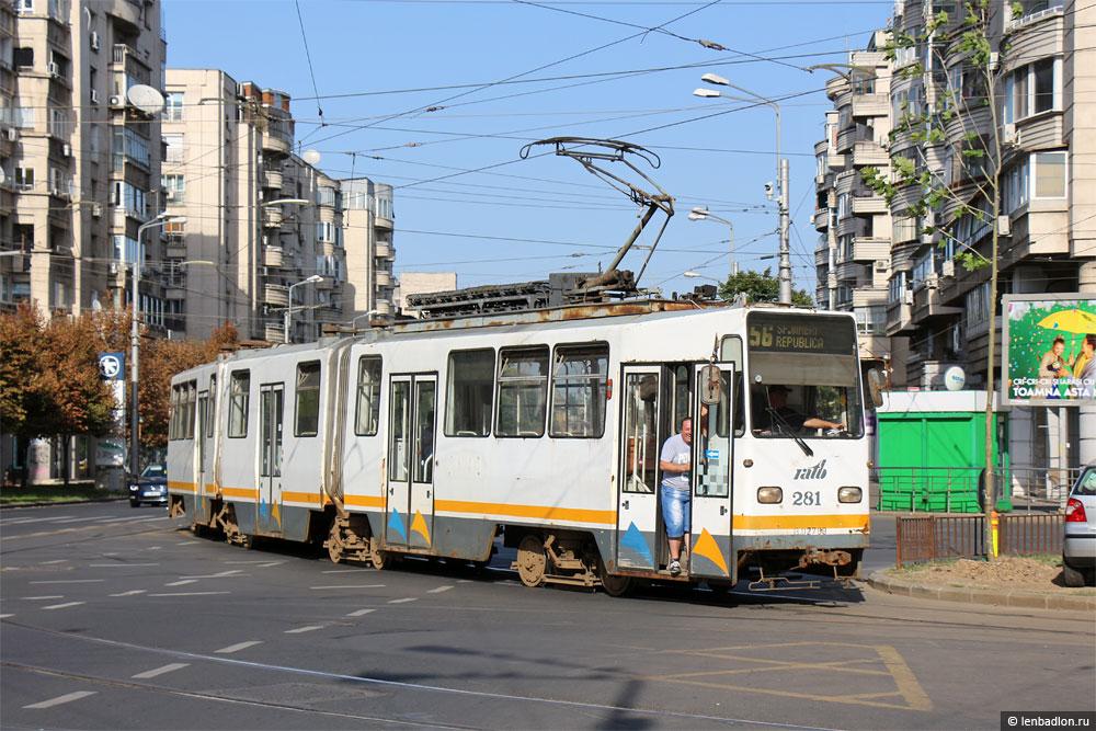 Фото трамвая URAC V3A-93 в Бухаресте