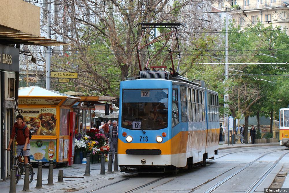Фото трамвая Т6М-700 F в Софии