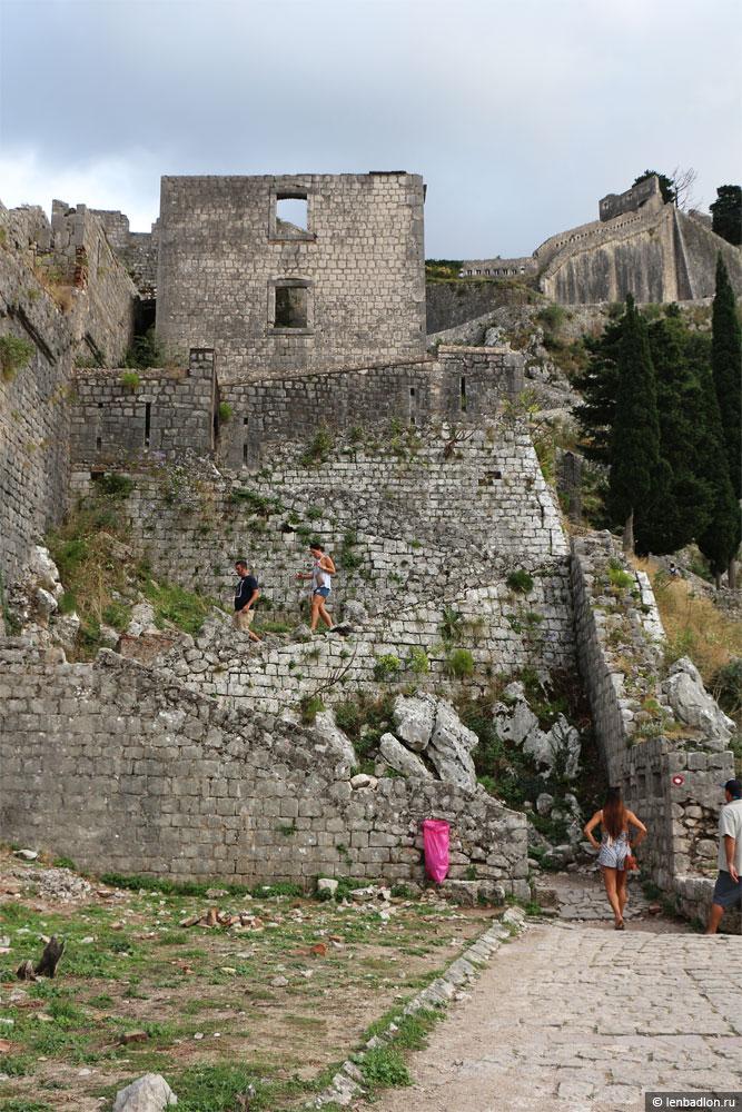 Башня Контарини крепости Котора