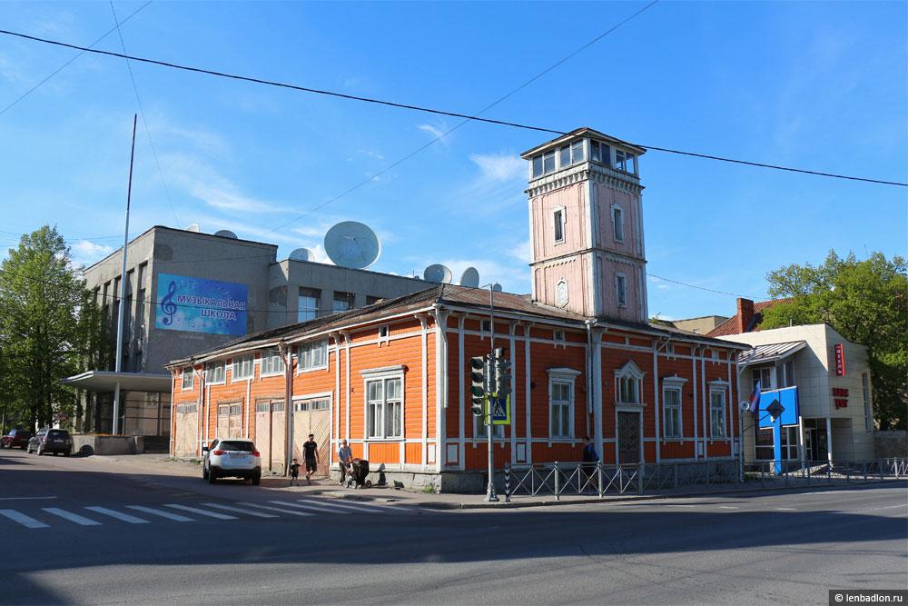 Бывшее здание пожарного депо в Сортавале