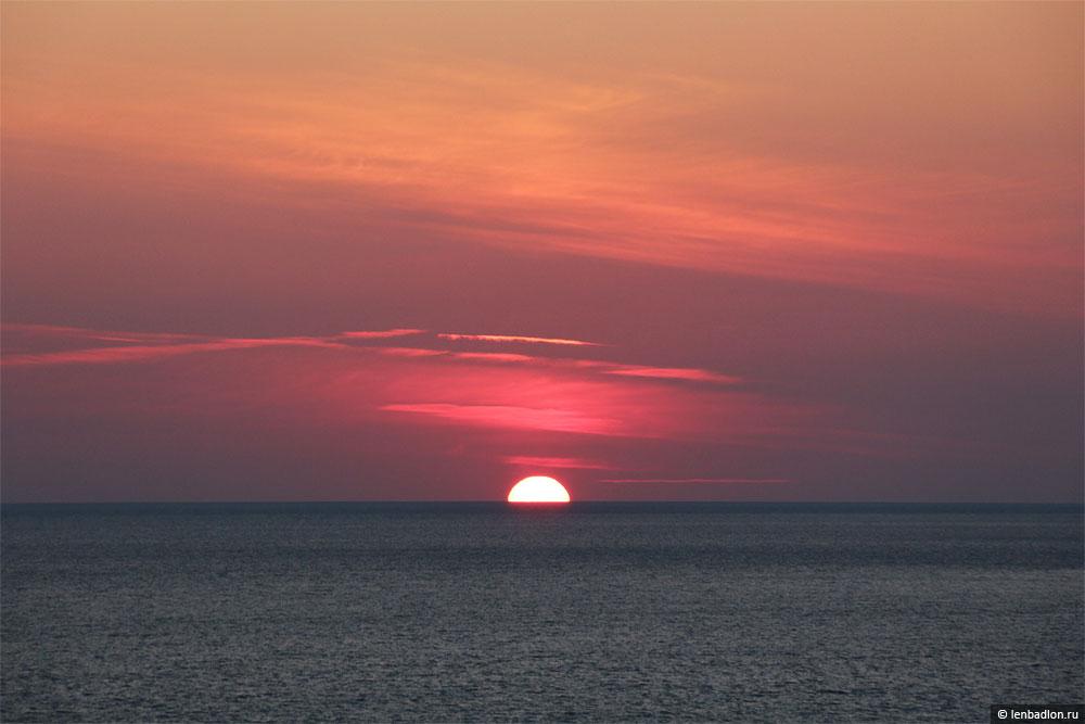 Фото заката в Черногории